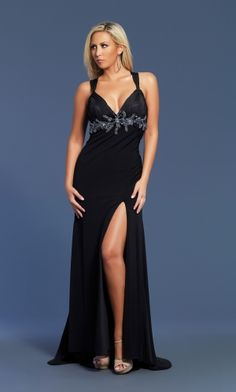 Black Straps Long/Floor-length Lace-up Prom Dress PD39EF