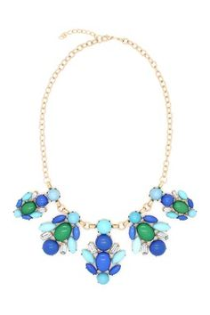 Multi Teal Necklace