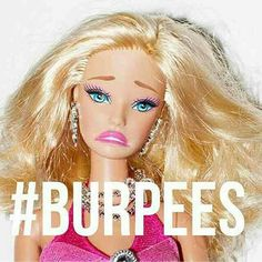 Just thinking about the word hurts #burpees