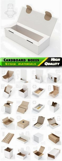 Design of cardboard boxes with drawings for cutting 3 - 25 HQ Jpg