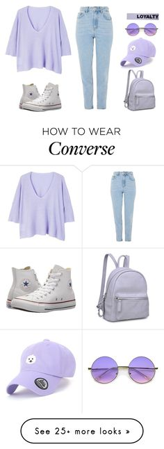 """""""187"""" by scarlett-anon on Polyvore featuring MANGO, Topshop, Converse, Moda Luxe, ZeroUV and Versace"""