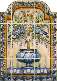 azulejo portuguese tiles painted tiles pinterest. Black Bedroom Furniture Sets. Home Design Ideas