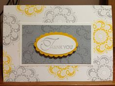 Lacy & Lovely Thank You card