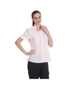 Zeige Details für Damen Bluse-Kurzarmig :      Standard Passform mit der nötigen Bewegungsfreiheit     Ärmel mit umschlagbaren Manschetten     BodyStyle = körpernahe Schnittführung     1 Brusttasche links  Material: Terrycotton: 67% Polyester - 33% Baumwolle