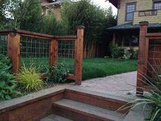 Galvanized Steel Mesh Fence With Cedar Frame Loyal