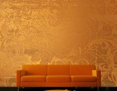 Selbstklebende Tapete - Fototapete Goldener Barock