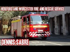 TWO-TONEs - Dennis Sabres x2 & Scania P280s x2 fire engines responding & onscene | HW Fire & Rescue - YouTube