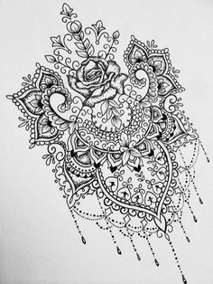 Mandala drawing in pen