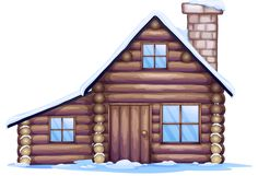 "Photo from album ""Избы"" on Yandex. Log Cabin House Plans, Cottage Floor Plans, House Silhouette, House Clipart, House Illustration, Illustrations, Cartoon House, Doll House Crafts, Brown House"