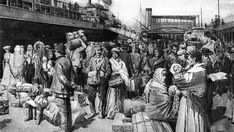 The Great Famine in Ireland caused many Irish people to emigrate from their country to find better places to live.  Most went to North America and New England through Ellis Island, the gateway for many immigrants to enter the US.