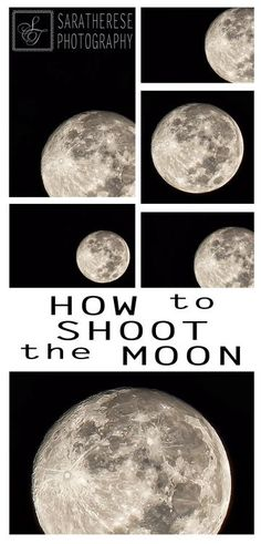 How to Shoot the Moon - Photography Tips by Sara Therese Photography #photoshoptutorial #tutorial #psdtutorial #photoshop #psd #lightroom