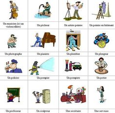 Les métiers Ap French, Core French, French Stuff, French Kiss, Teaching Vocabulary, Teaching Time, French Teacher, Teaching French, How To Speak French