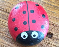 Hand Painted Ladybug Stones