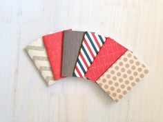 Notebooks 6 Tiny Journals Small NotebooksRed by ordinaryartists, $5.00