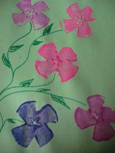Easy Spring Craft for Kids: Apple Print Flowers