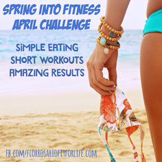 """""""Spring Into Fitness April Group""""  I will be giving 10 people the opportunity to establish healthy eating habits using portion control, short workouts and see CRAZY results. This program is simple, effective AND you're even allowed wine and chocolate!  Is this you? *Lose 10-15 lbs *Establish healthy and clean eating habits  *Do short 30 minute workouts daily  *Check in with me daily for accountability   Email me: florrosariofitforlife@gmail.com  IG: @florfitforlife"""