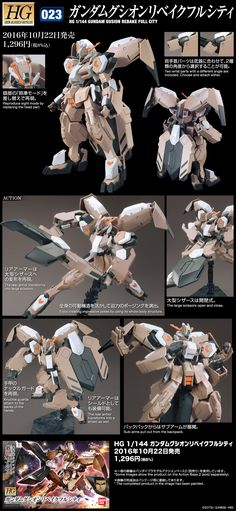 HG IBO 1/144 GUNDAM GUSION REBAKE FULL CITY: Just Added NEW Big Size Official Images, Info Release http://www.gunjap.net/site/?p=313065