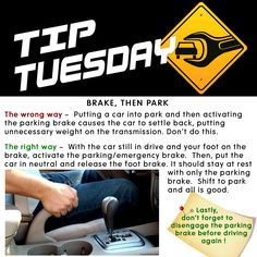 Car Care Tip: The correct way to use the emergency / parking brake. Auto Repair at Automotive Service Garage of Sarasota, FL  http://www.srqautorepair.com/