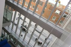 View from the top floor of the John Galsworthy building looking into the courtyard: http://www.kingston.ac.uk/virtual-tour/penrhyn-road/?utm_source=Pinterest_medium=Social_campaign=KUPinterest_content=PenrhynRdTour