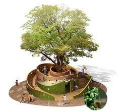 한화건설(대표 김현중)은 어린이 놀이터 '숲속의 오케스트라'와 '자연을 담은 놀이터' 2개 작품이 '2010 iF 디자인 어워드' 수상작으로 최종 선정됐다고 밝혔다.국내최초 어린이 놀이터부분 .. Playground Design, Outdoor Playground, Landscape Architecture Design, Green Architecture, Design D'espace Public, Pocket Park, Urban Furniture, Street Furniture, Parking Design