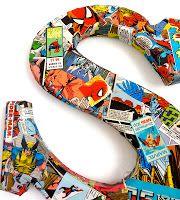Comic book wood letters