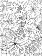 Geometric Coloring Pages, Adult Coloring Pages, Difficult Coloring Pages