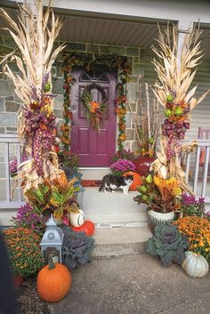 "Fall decor: SKH (""Welcoming Fall,"" October 2014; photo by Kirk Zutell)"