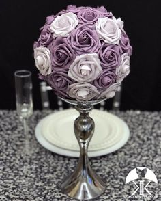 DUSTY LAVENDER Flower Ball Centerpiece, Lavender Centerpieces, Red Centerpieces, Mickey Centerpiece, Crown Centerpiece, Hot Pink Weddings, Lilac Wedding, Bling Wedding, Luxury Wedding
