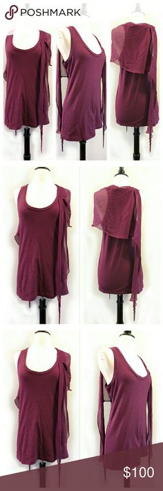 Elizabeth & and James Purple Top Great condition. Silk draped sheer material with jersey body. 100% cotton/100% silk contrast. Elizabeth and James Tops Tees - Short Sleeve