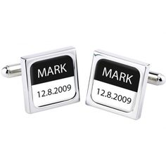 Personalised Bliss Mono Cufflinks  from www.personalisedweddinggifts.co.uk :: ONLY £29.95