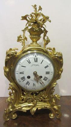 AT1155 Ormolu Clock - http://pageantiques.com.au/