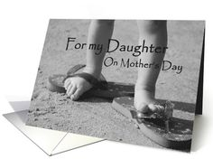 For my Daughter, mother's day: baby feet card (186222)