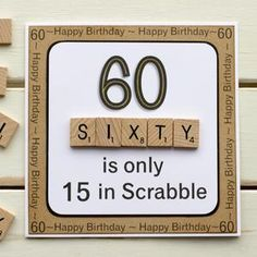 Happpy Birthday, Birthday Cards For Mom, Masculine Birthday Cards, Bday Cards, Funny Birthday Cards, Handmade Birthday Cards, Man Birthday, Diy 60th Birthday Card, Happy 60th Birthday