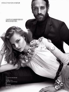 Vogue China Editorial September 2014 - Magdalena Frackowiak & Matthew Avedon by Nathaniel Goldberg - Honor