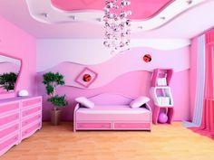 Натяжной потолок в комнате для девочки