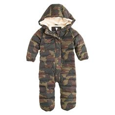 Baby puffer snowsuit in camo- This thing is stupid expensive for something he would only wear a few times but can you imagine!