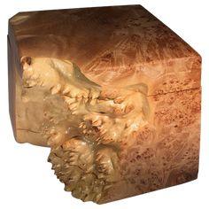 BRENDA HOUSTON DESIGNS Large Maple Burl Box Maple Burl, Back To Nature, Organic Shapes, Decorative Objects, Natural Materials, Houston, Lion Sculpture, Statue, Antiques