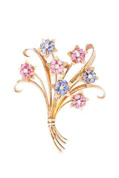 Broche Bouquet de fleurs John Rubel