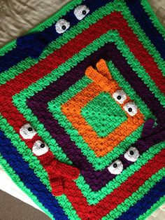 Escoge colores una manta de boo, ganchillo manta de bebé, personalizado