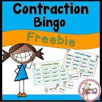 FREE Contraction Bingo Game