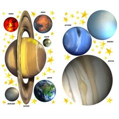 Solar System Space Planets U0026 Stars Wall Decals Mural Part 83