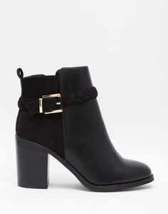 Image 2 of Miss KG Swift Black Block Heel Ankle Boot With Straps