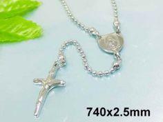 NH3157OC - Krížik - oceľový náhrdelník