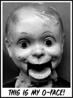 O Face  Vintage Image Notecard by hilarykay on Etsy, $2.90   #ventriloquism #halloween #creepy doll