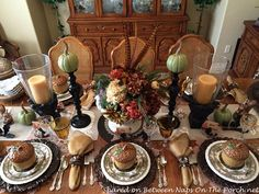 A Beautiful Fall Thanksgiving Feast with a Sassy Turkey Centerpiece
