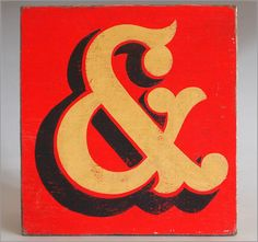 The Vintage Wall - Hand-painted wooden fairground ampersand '&' sign