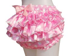 Haian ABDL PVC & Satin Ruffle Rhumba Pull on Plastic Pants Color Pink this would be perfect over a cute diaper! Frilly Knickers, Pvc Hose, Girl Outfits, Cute Outfits, Plastic Pants, Baby Bloomers, Satin Material, Underwear, Kawaii
