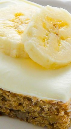 Old-Fashioned Banana Bars with Cream Cheese Frosting