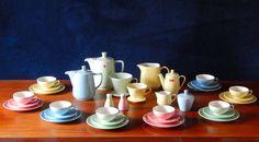 Melitta Minden Pastell Keramik Kaffee Service 8 Personen 34Teile 50er + Zustand | eBay