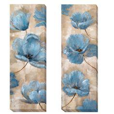 Nan 'A Summer Wind I and II' 2-piece Canvas Art Set | Overstock.com Shopping - The Best Deals on Canvas